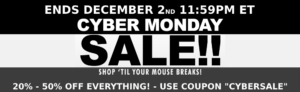 "cyber monday sale - coupon ""cybersale"""