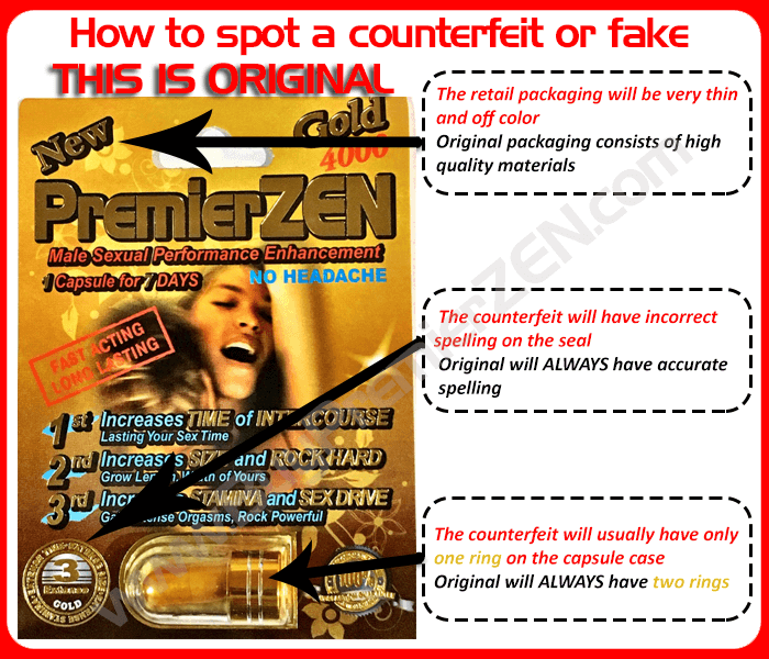 Real PremierZEN - How to spot a counterfeit or fake
