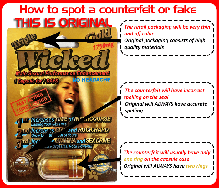 Real Triple Wicked - How to spot a counterfeit or fake